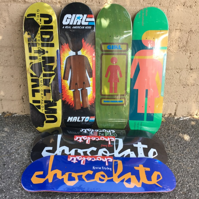 Girl and Chocolate Boards Restock.