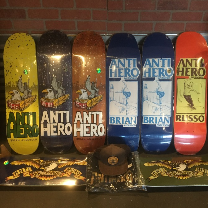 Brian Anderson Pro Models have arrived * Anti Hero
