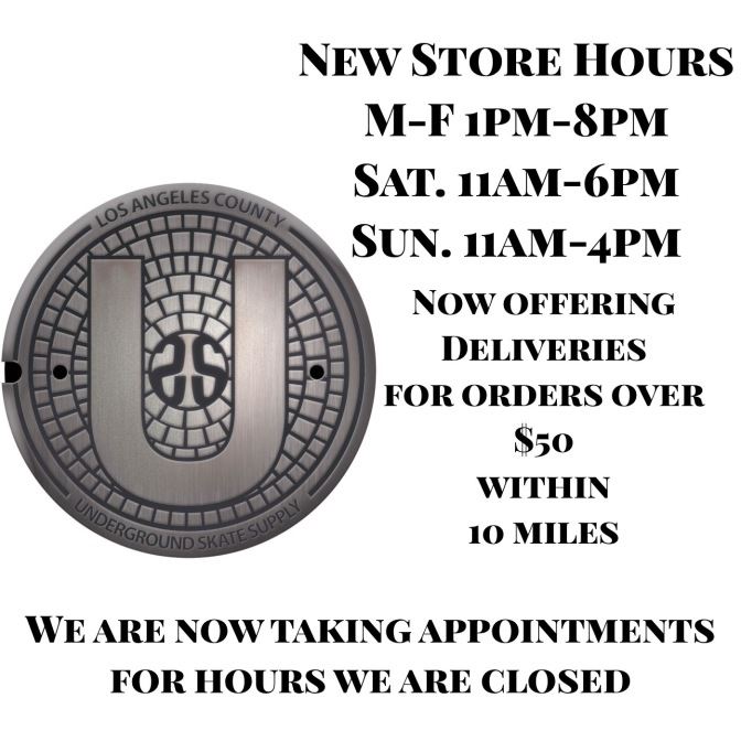 New Hours, Deliveries and Appointments
