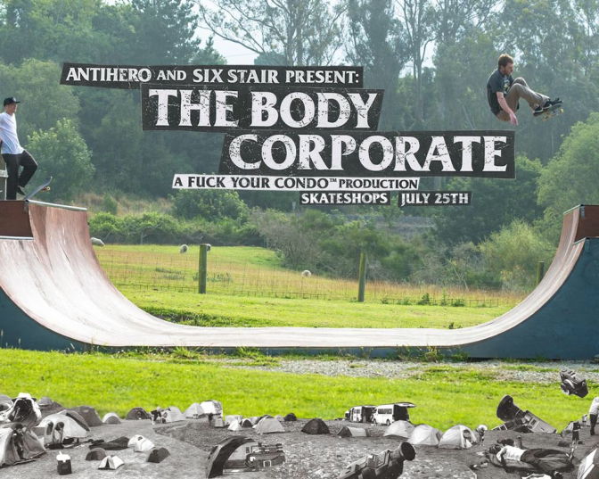 The Body Corporate Anti Hero Video this Friday at the Shop