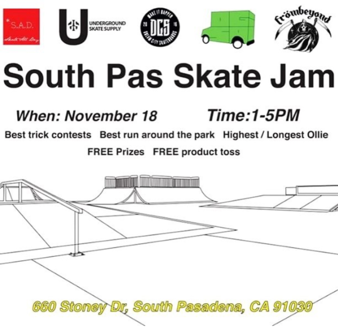 Skate Jam This Saturday!